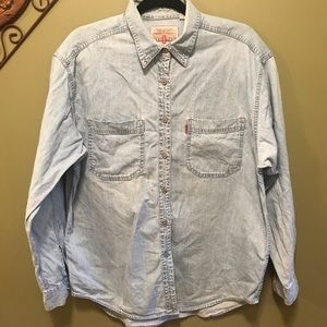 Levi's Red Tab Jean Button-up Shirt Sz Large